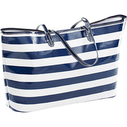 Wellie Tote Navy/White Stripe - Clava Ladies' Busi