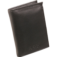 Leather Flip-Up Billfold - Black