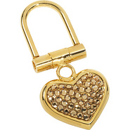 Small Heart Key Chain - Topaz