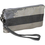 Tri-Color Wristlet Clutch - Clutch