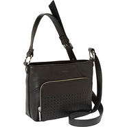 Farah Crossbody Black - Perlina Leather Handbags