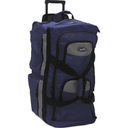 Eight Pocket 33  Rolling Duffel - Navy