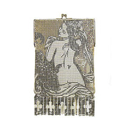 Metal Mesh Printed Bella Frame - Clutch