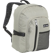 Backpack with Front Mesh Pocket - Khaki/Black