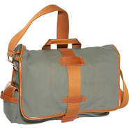 Eco-Friendly Canvas Laptop Messenger - Green