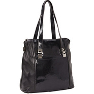 Harper Shopper Black - B. Makowsky Leather Handbag