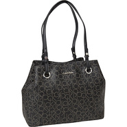 Key Item Tote Saffiano Leather Black/Cement - Calv