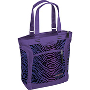 Jansport Ella Tote - Black/Prism Purple Flashback