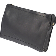 Zippered Folio Pouch - Black
