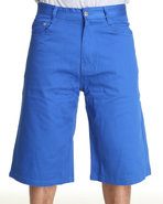 Men Steady Colour Twill Shorts Blue 34