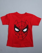 Boys Spiderman Face Tee (2T-4T) Red 2T