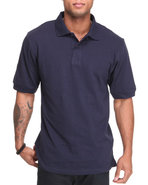 Men Pique Polo Navy Medium