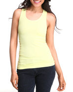Women Seamless Racerback Tank Top Yellow Medium/La