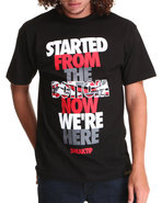 Men Started From The Bottom Tee Black Medium