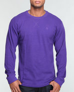 Men Brick City L/S Crew Thermal Purple X-Large