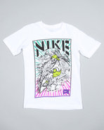 Boys Nike Surfer Tee (8-20) White Large