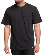 Men Short Sleeve Pocket T-Shirt Black X-Large