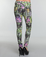 Coogi Women Allover Printed Legging Black 7/8