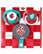 Boys 3 Pack Pacifiers (Newborn) Red