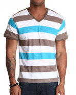 Wesc Men Striped Tee Blue Medium