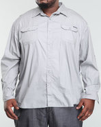 Men Long Sleeve Imaginative Shirt (B&T) Grey 5X