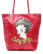 Women Betty Boop Party Girl Tote Red