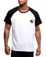 Men Baseball Raglan Tee Black Medium