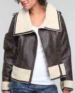 Women Maddy Faux Shearling Brown Medium