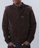 Men Split Second Hand Suede Jacket Brown X-Large