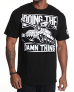 Men Doing The Damn Thing Tee Black Large