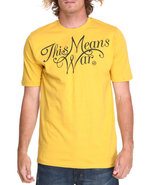 Akoo Men This Means War Tee Yellow Xx-Large