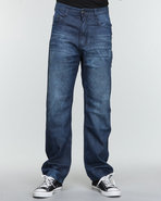 Men The Conner Signature Denim Jeans Dark Wash 36X