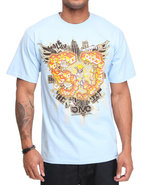 5Ive Jungle Men Walk Of Life Tee Blue Medium
