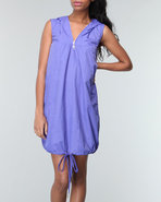 Women Carnival Nylon Dress Purple Medium