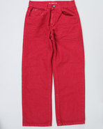 Boys Colored Denim Jeans (8-20) Red 16