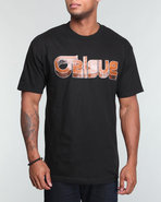 Orisue Men Orisue Logo Textured In Wood Grain Tee 