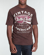 Men S/S Vintage Americana Tee Brown Large