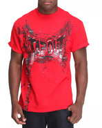 Tapout Men Tapout Splash Tee Red Small