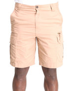 Men Ripstop Cargo Shorts Brown 36