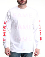 Hall Of Fame Men Chanel Long Sleeve Tee Red Medium