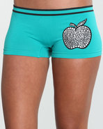Women Flash Lights Seamless Boyshort Green Medium