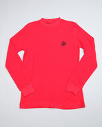Boys Solid Thermal With Beanie (8-20) Red 20 (Xl)