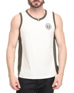 Men Layover Tank Olive Medium
