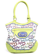 Coogi Women Jourdan Tote Handbag Lime Green
