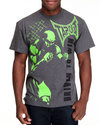 Tapout Men Tapout Driven To Win Tee Charcoal Small