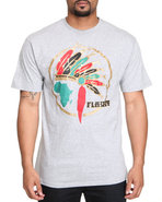 Drj Underground Men Chief Flaucy Tee Grey Medium