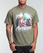 Men Marvel Avengers Full Team Tee Green Medium