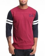 Men Malto 3/4 Sleeve Football Jersey Tee Maroon X-