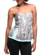 Women Printed Corset Green Small