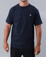 Men Champion Jersey Tee Navy Small